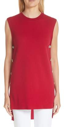 ADAM by Adam Lippes Crystal Detail Merino Wool Tunic