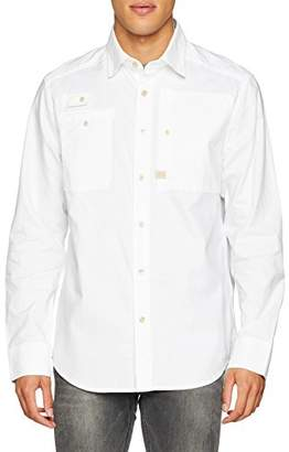 G Star G-Star Men's H-A Utility Straight Shirt L/S Casual,X-Large
