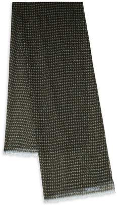 Valentino Men's Fray-Trimmed Printed Scarf