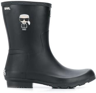 Karl Lagerfeld Paris Ikonik wellington boots