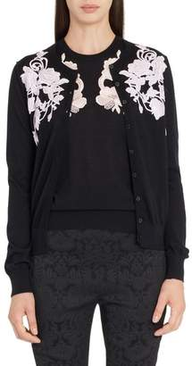 Dolce & Gabbana Placed Lace Cashmere Cardigan