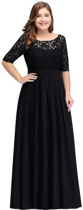 Babyonlinedress Women Long Special Occasion Dresses Plus Size Gown 16W