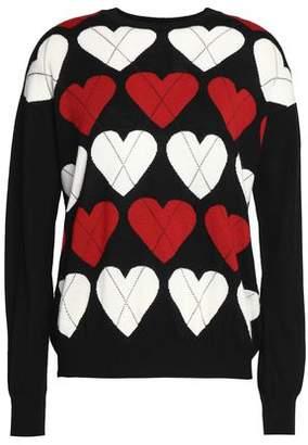 Love Moschino Intarsia Wool-Blend Sweater