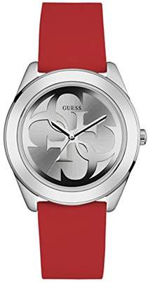 GUESS Women's Stainless Steel Silicone Casual Watch