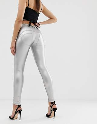 Freddy WR.UP shaping effect mid rise leather skinny jean