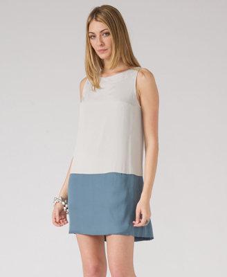 Love21 Colorblock Satin Dress