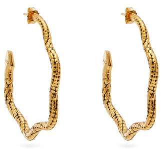 Aurelie Bidermann Tao Hoop Earrings - Womens - Gold