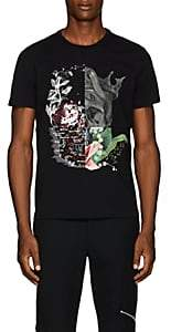 Alexander McQueen Men's Patchwork Cotton Jersey T-Shirt - Black