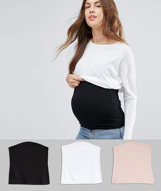 Asos DESIGN Maternity jersey bump band 3 pack SAVE