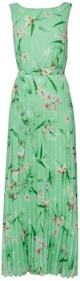 Wallis Mint Green Floral Pleated Maxi Dress