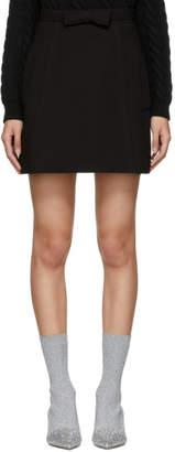Miu Miu Black Pockets and Bow A-Line Miniskirt