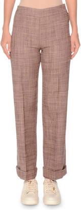 Side-Zip Flare-Leg Wool Pant