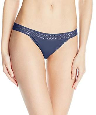 DKNY Women's Classic Cotton Lace Trim Bikini