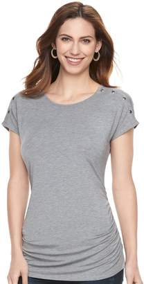 A Glow Maternity a:glow Ruched Snap-Shoulder Nursing Tee