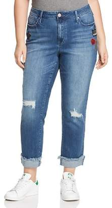 Seven7 Jeans Plus Rolled-Hem Patch Jeans in Reeves