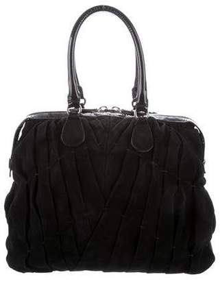 Valentino Pleated Suede Tote