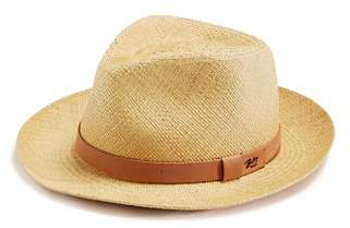 Bailey Of Hollywood Gelhorn Straw Hat with Leather Band