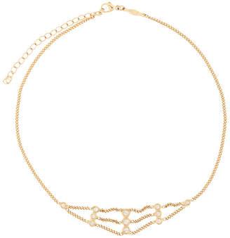 Jacquie Aiche 14kt yellow gold diamond flat chain choker