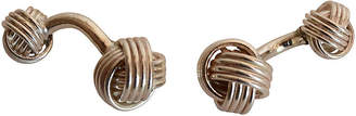One Kings Lane Vintage Sterling Silver Knot Cuff Links - The Montecito Collection