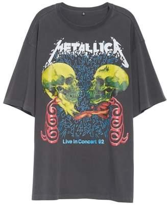 R 13 Metallica Concert '92 Oversized Tee