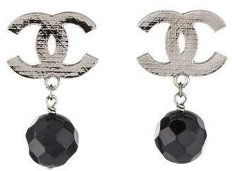 Chanel CC Bead Clip-On Earrings