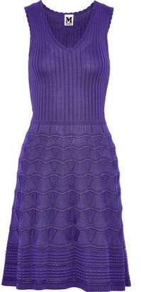 M Missoni Metallic Crochet And Ribbed Cotton-Blend Dress
