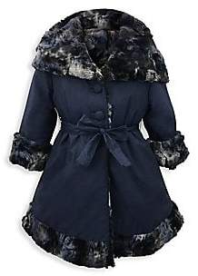 Helena and Harry and Harry Little Girl's& Girl's Reversible Faux Fur-Lined Hooded Jacket