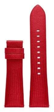 Michael Kors AccessBradshaw Lizard-Embossed Leather Strap/Red