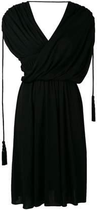 Lanvin draped asymmetrical dress