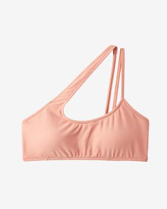 Express Strappy One Shoulder Bikini Swim Top