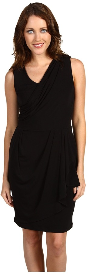 Calvin Klein  Draped One Shoulder Dress