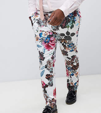 Asos Design DESIGN Plus wedding skinny suit trousers with floral print