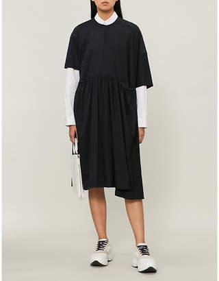 Jil Sander Asymmetric silk and cotton-jersey dress