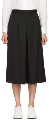 Y's Ys Black Wool Culottes