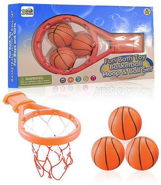 Me! Bath 3 Bees and Me Bath Toy Basketball Hoop and Balls Set