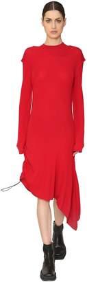 Aalto Asymmetrical Wool Rib Knit Dress