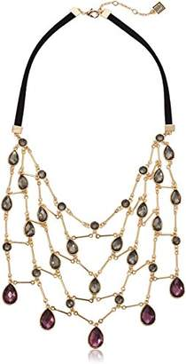 Laundry by Shelli Segal Link Stone Bib Necklace