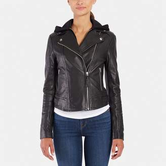 Mackage Yoana Leather Jacket with Hood