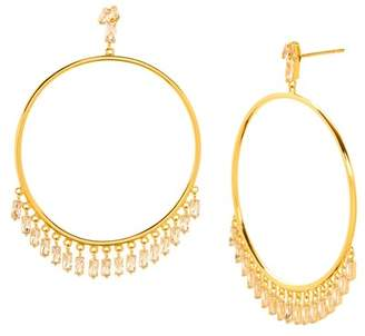 Gorjana Amara Frontal Hoop Earrings