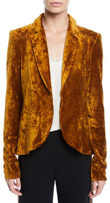 Nanette Lepore Art Lover Crushed Velvet Jacket