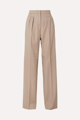 Max Mara Kenia Wool-twill Wide-leg Pants - Beige