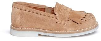 Eli Suede toddler kiltie loafers