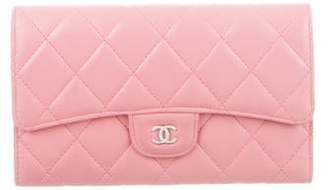 Chanel Quilted CC Trifold Wallet