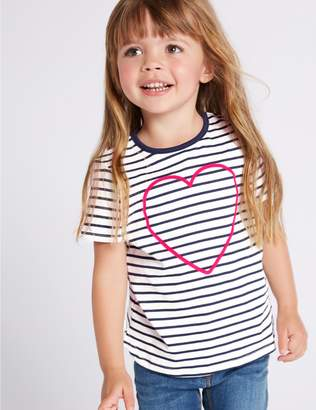 Marks and Spencer Pure Cotton Striped Top (3 Months - 7 Years)