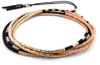 Abacus Row Sonoran Wrap Bracelet/Necklace in Sienna