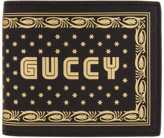 Gucci Black Guccy Sega Logo Bifold Wallet