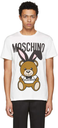 Moschino White Playboy Teddy Bear T-Shirt