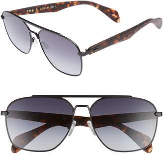 Rag & Bone 60mm Gradient Navigator Sunglasses