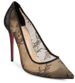 Christian Louboutin Lace Point Toe Pumps