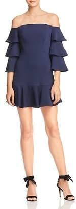 BCBGMAXAZRIA Off-the-Shoulder Mini Dress